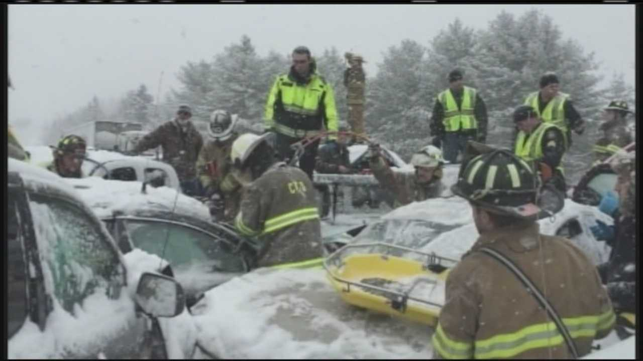 Allen Nygren was driving home after a 24-hour shift with the Waterville Fire Department when he came across Wednesday's 75-car pileup. He immediately jumped into action.