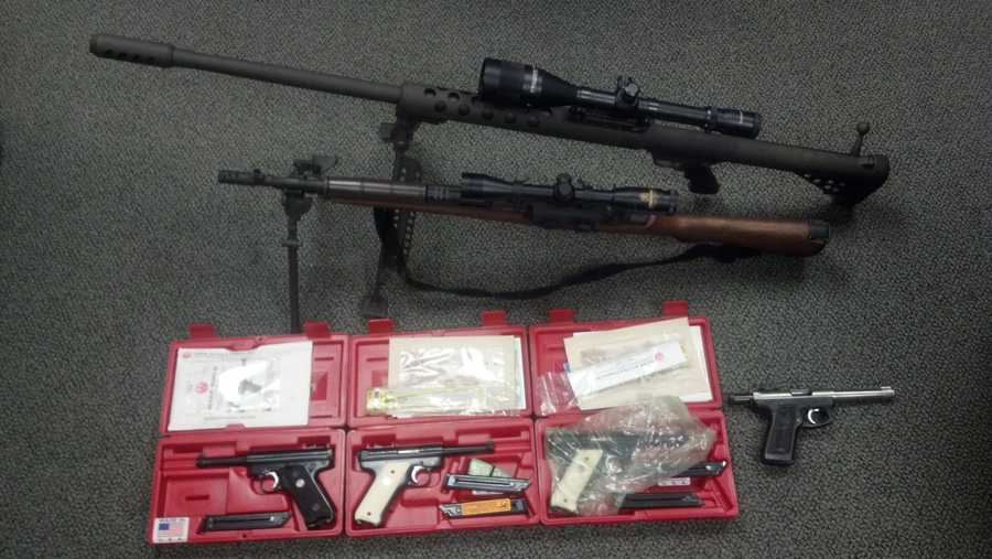 On Nov. 21 police arrested Christopher Michaud, 23, of Limerick, Cole Meserve, 21 of Limerick and Amber Meserve, 22, of Limerick. Police said they recovered seven stolen guns and other items.
