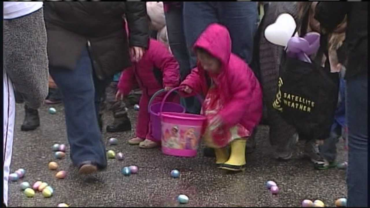 What's billed as the state's largest Easter egg hunt was held at a Falmouth church on Saturday.