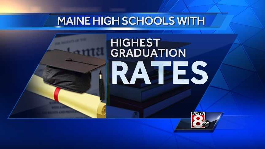 Maine's high school graduation rate improved slightly in 2014, according to new data from the Maine Department of Education. Click through to check out the 25 high schools with the highest graduation rate.