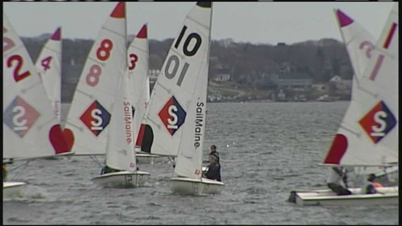 Sailing students competed in Sail Maine's Cape Jamboree Regatta on Saturday.