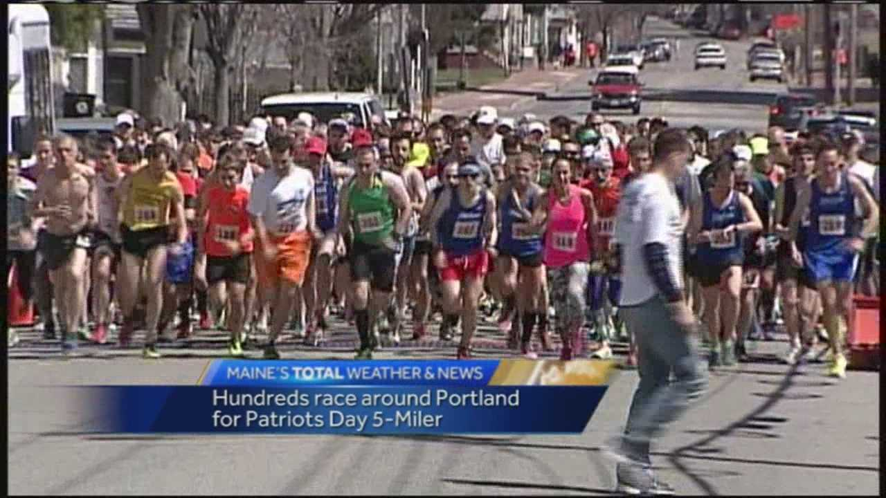 Maine's oldest running race celebrated its 86th year Sunday. Runners took off in Portland for the annual Patriots Day 5-Miler.