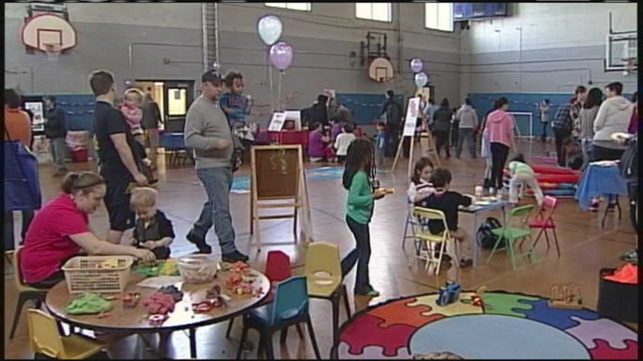 The YMCA encouraged year-round health and learning at an event Saturday in Portland.
