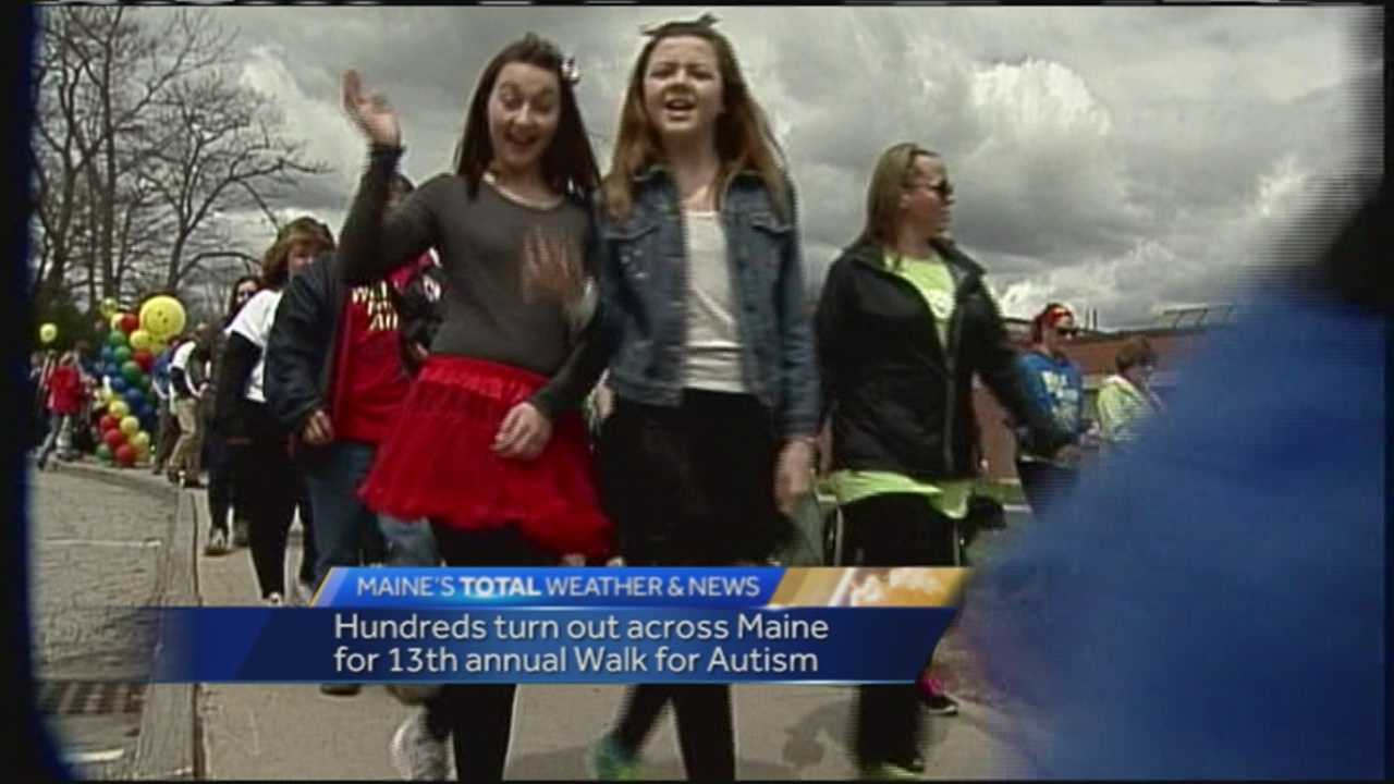 Hundreds of people came out to raise awareness about autism at the 13th annual Walk for Autism on Sunday.