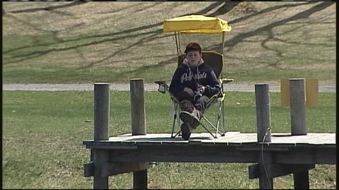The Scarborough Kiwanis Club hosted its annual fishing derby Saturday.