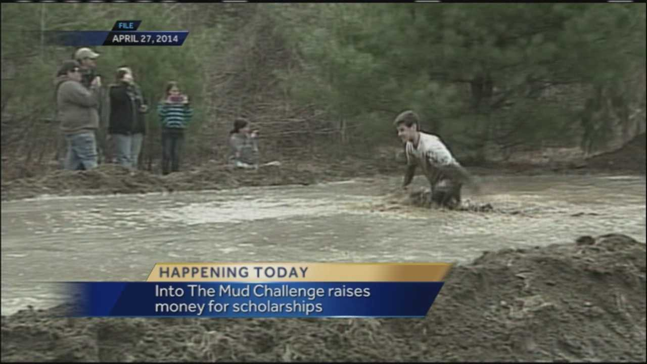 """More than 1,000 participants will get down and dirty in the mud at the fifth annual """"Into the Mud Challenge"""" at Gorham Middle School Sunday. Money raised from the event will benefit scholarships. WMTW News 8's Katie Thompson talks with one of the USM students who helped organize the event."""