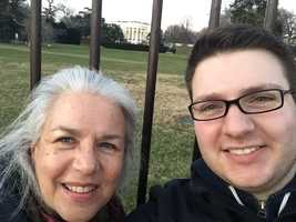 Anchor/Reporter David Charns with his mother Judy.