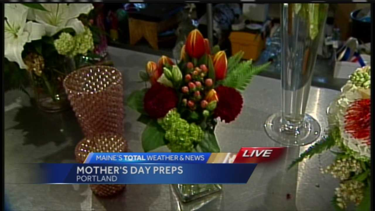 With 1,000 deliveries Saturday alone, Harmon's & Barton's florists in Portland are preparing to make some lucky Maine moms very happy. News 8's Morgan Sturdivant has a closer look at the final preparations.