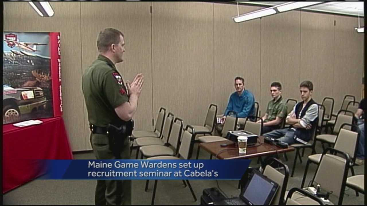 Maine Game Wardens recruited in Scarborough on Saturday.