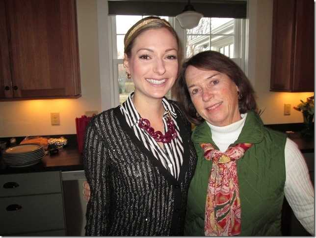 Katie Thompson and her mom.