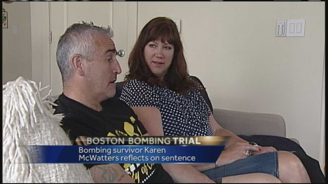 Maine native Karen McWatters said she was happy to hear Boston Marathon bomber Dzhokhar Tsarnaev was sentenced to death.