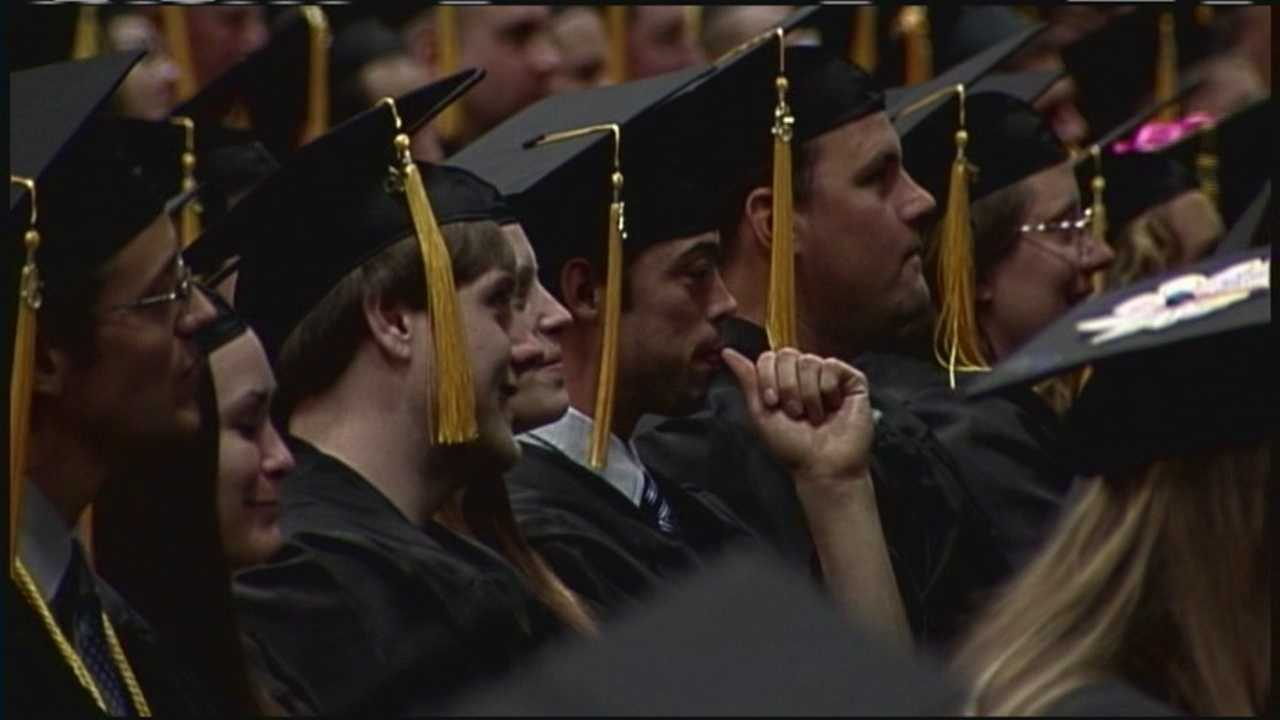 Students from the Kennebec Valley Community College and the University of New England graduated Saturday.