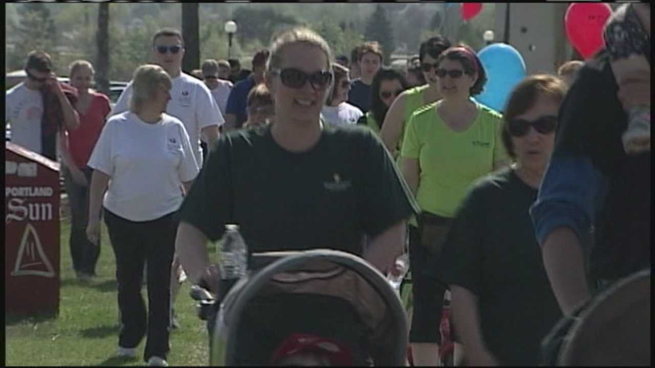Several thousand people participated in the American Heart Association's Southern Maine Heart Walk on Sunday in Portland's Back Cove.