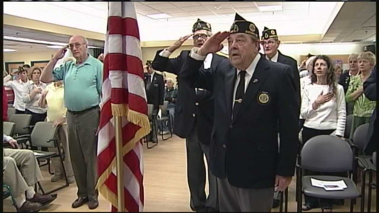 A ceremony was held inside the South Paris Maine Veterans' Home. The event was sponsored by the Western Maine Veterans' Advisory Committee.