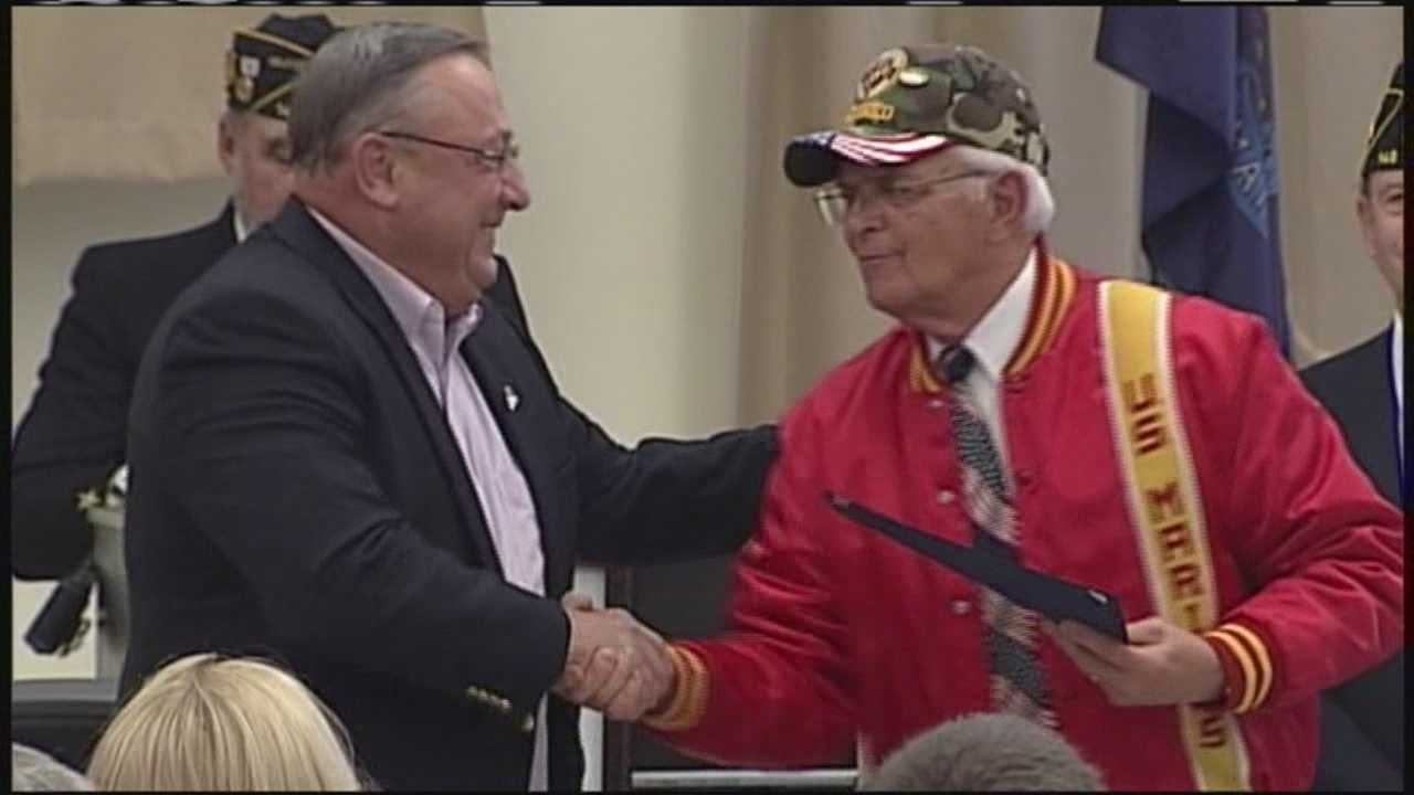 Governor LePage traveled to Windham on Memorial Day to thank Vietnam War veterans for their service.