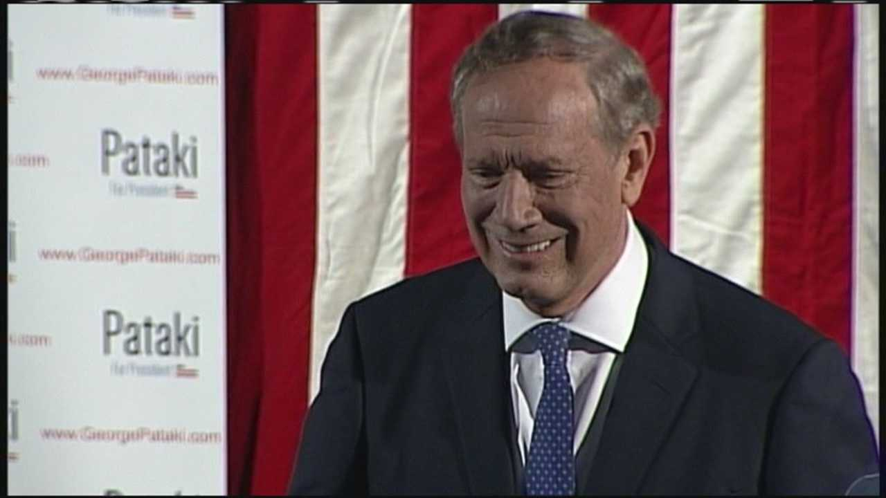 Former New York Gov. George Pataki announced he is running for president in New Hampshire on Thursday. WMTW News 8 political reporter Paul Merrill was there for the announcement.