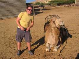 David spent two weeks in Israel. Here he is with a camel. Check out those smiles!