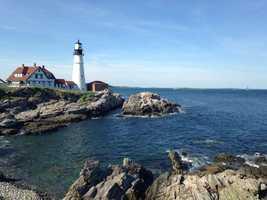 David loves living near the ocean. He loves lighthouses, and his favorite spot is Portland Head Light.