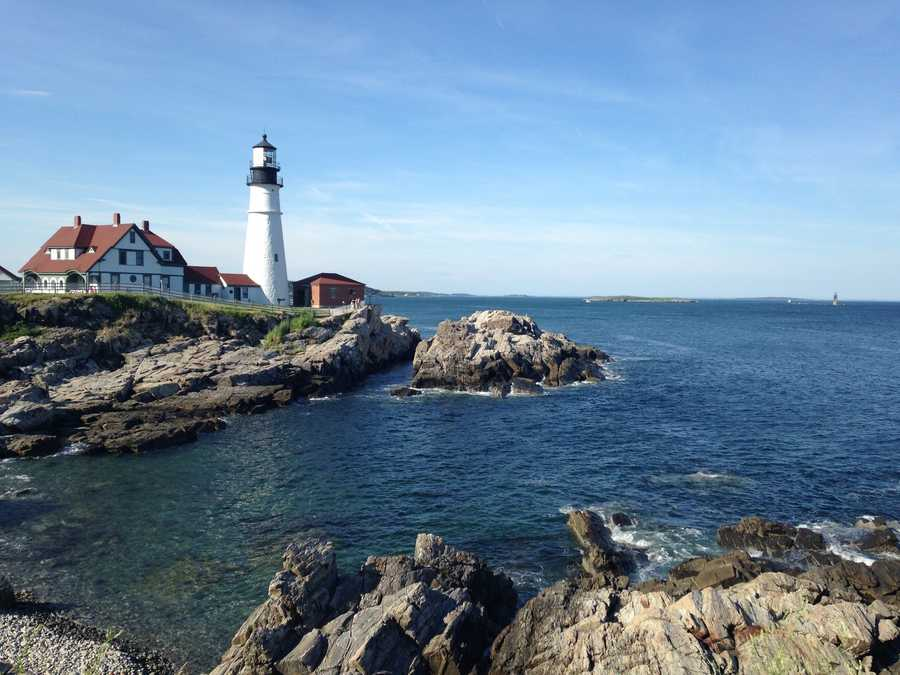 David loves living near the ocean. He loves lighthouses, and his favorite spot is Portland Head Light.