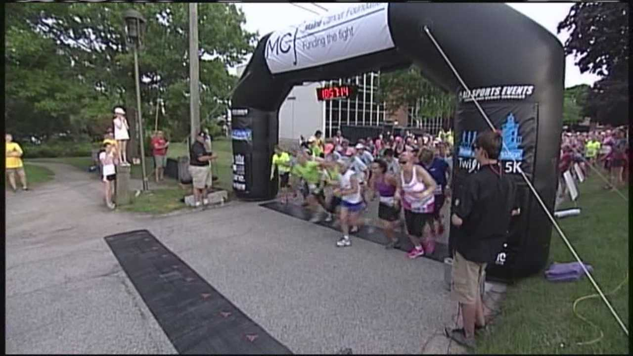 Thursday's Twilight 5K raised thousands of dollars for the Maine Cancer Foundation. WMTW News 8's Courtney Sturgeon reports.