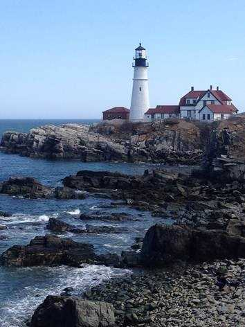 One of Courtney's favorite spots in Maine is the Portland Head Light.