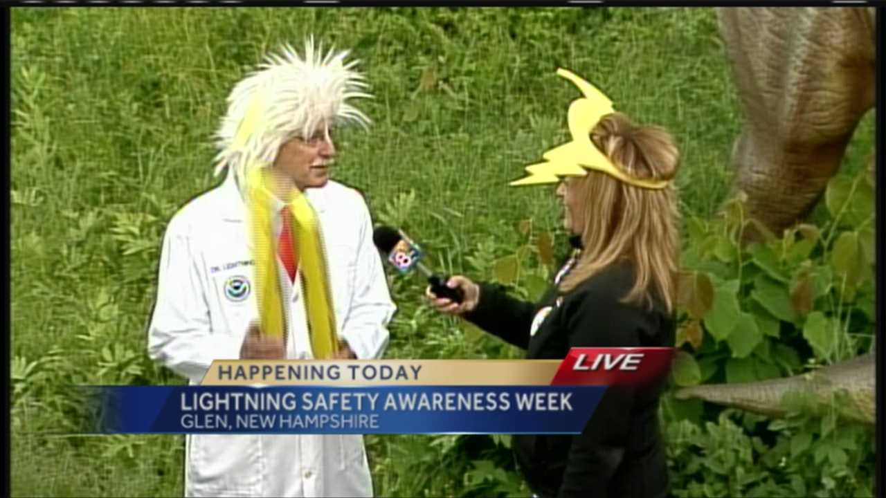 Lightning kills about 49 people a year, and while summertime is the time for most lightning storms, there are ways you can protect yourself and your family. WMTW News 8's Morgan Sturdivant reports from Story Land in Glen, New Hampshire where the National Weather Service is kicking off Lightning Safety Awareness Week.