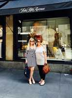 While Erin loves being in Maine, she's a city girl at heart. Shopping might be a hobby or addiction! This is her latest trip to New York City browsing 5th Avenue with her friend Ineke.