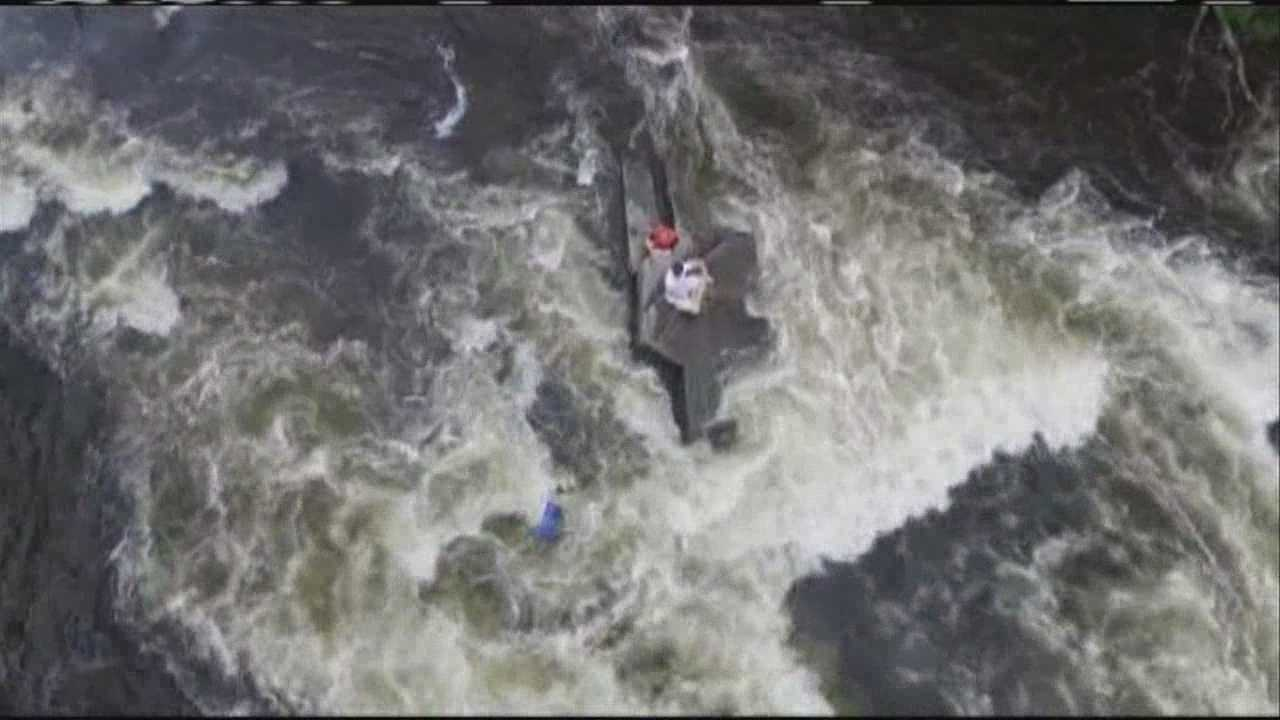 Auburn Fire Chief Frank Roma uses a drone for aerial photography, but it ended up playing a part in a river rescue Tuesday.