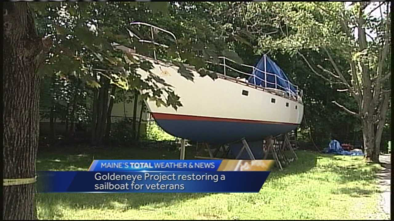 The Maine Fallen Heroes Foundation is hard at working restoring a sailboat for families of fallen or wounded soldiers.