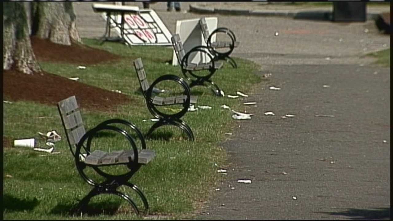 Portland Public Works crews had a big job ahead of them Sunday: Cleaning up after the big party on the Eastern Prom.