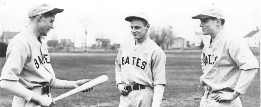 Katie's grandfather, Julian, and his brothers, Hasty and Dick, played baseball for Bates College in 1938. In total, 19 Thompsons have graduated from Bates College including two that went on to become faculty.