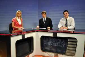"""Katie graduated from Hofstra University in Long Island, New York, with a bachelor's degree in broadcast journalism. Her first experience on-air came as anchor and reporter for the campus broadcast """"Newswatch 35."""""""
