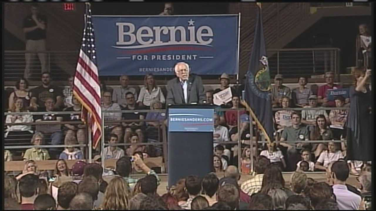Democratic candidate for president Bernie Sanders brought his campaign to Portland Monday night. WMTW News 8's Courtney Sturgeon reports.