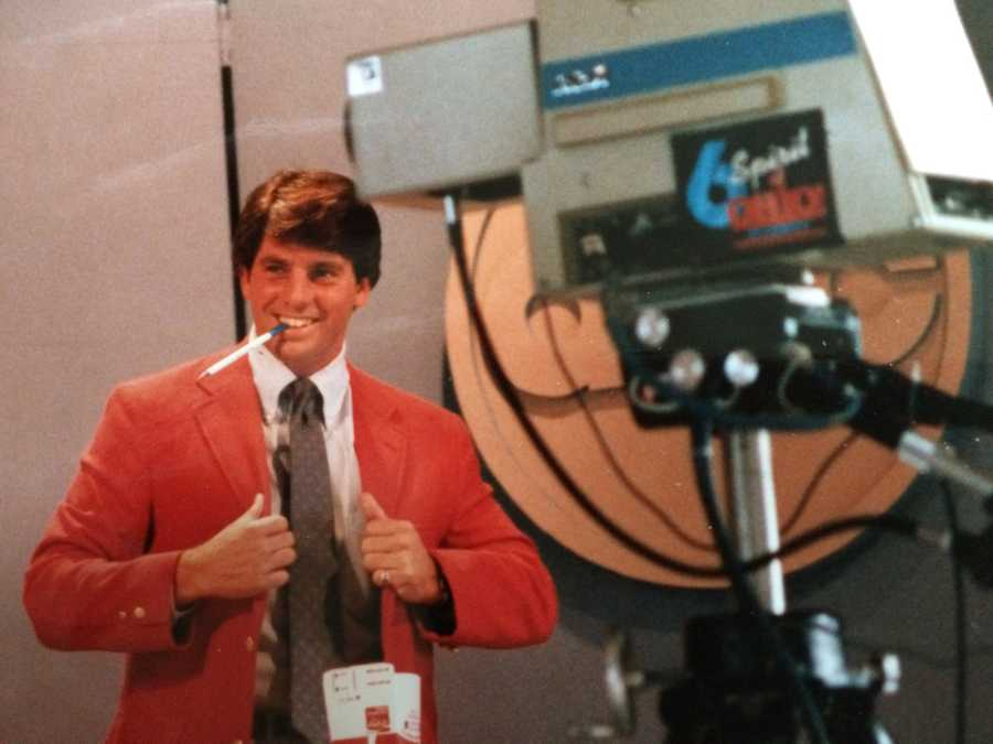 Steve loved doing sports because he could wear wild colors on the air.