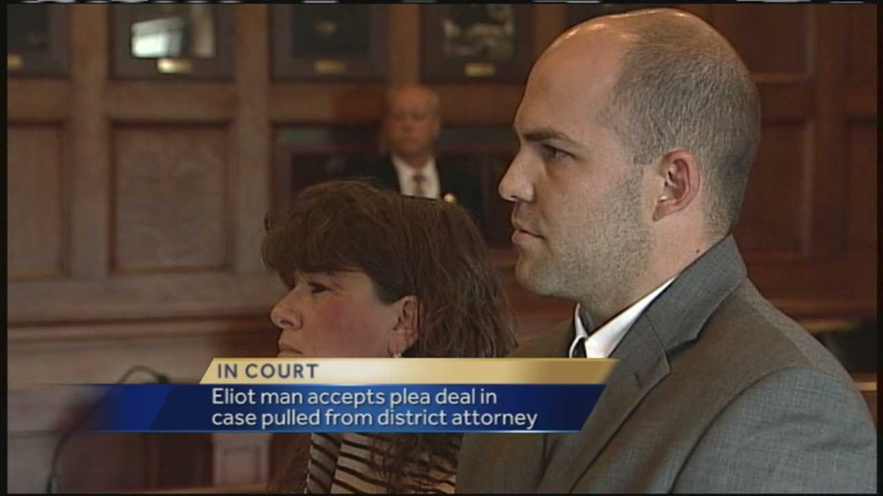 A former Eliot man whose case called into question the integrity of the Eliot Police Department and forced a judge to remove the district attorney's office from the proceedings has accepted a plea deal that will keep him out of prison if he enters a rehabilitation program.