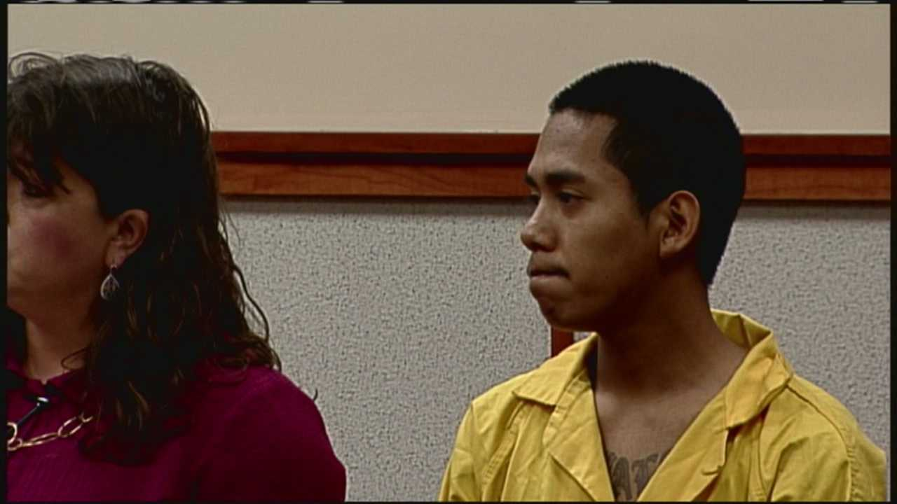 Johnny Ouch, 20, of Westbrook, made his first court appearance Friday afternoon in Cumberland County court.
