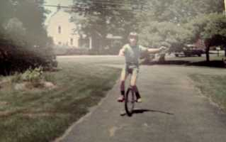 As a child, Roger learned how to ride a unicycle. He would play basketball on it with a friend who also had one.