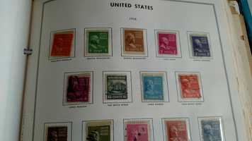 Roger has a stamp collection that dates back to the late 1800s.