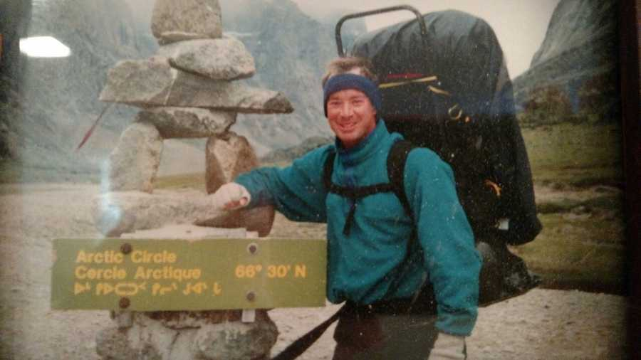 Roger has been to the Arctic Circle. Here he is on Baffin Island.
