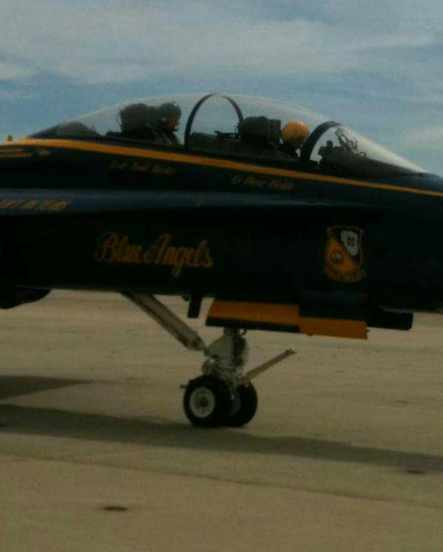 Roger flew with the Blue Angels in 2011. He said it was a dream come true.