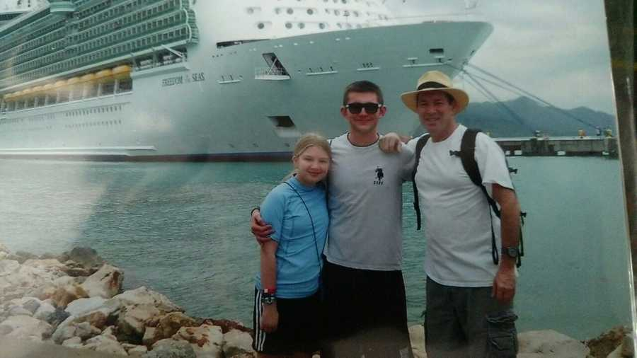 Roger's last real vacation: A Caribbean cruise.