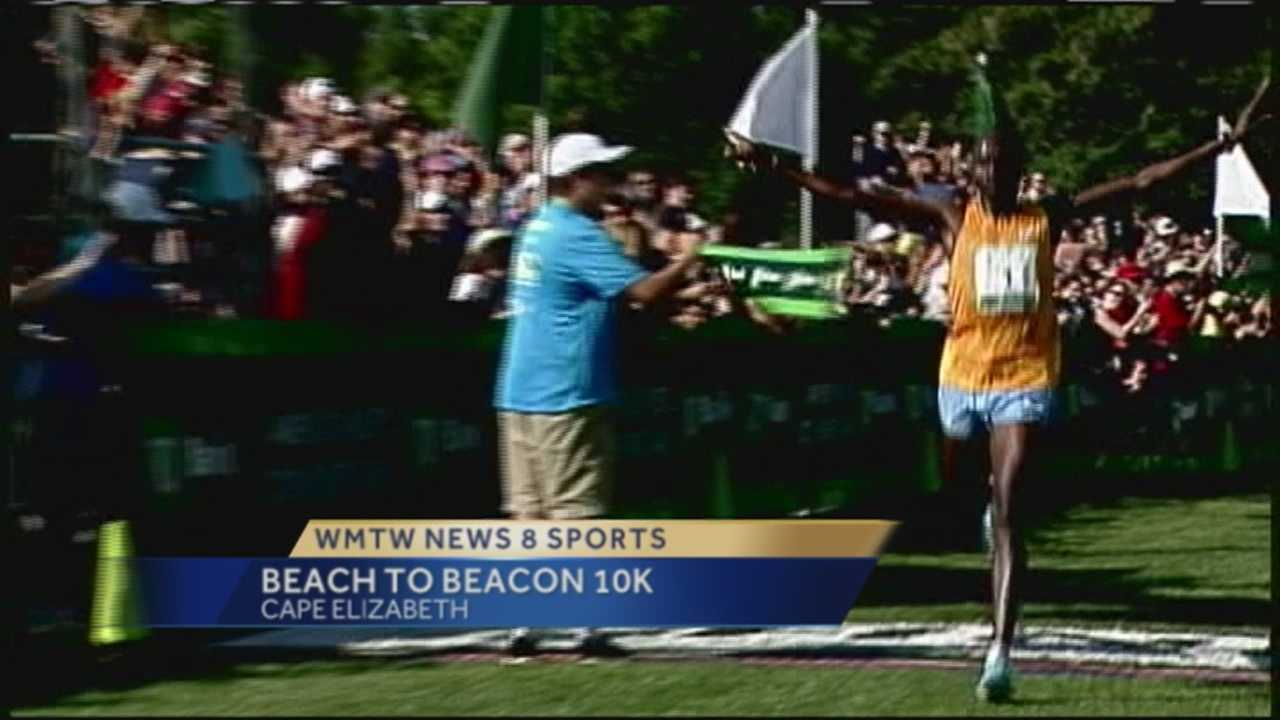 More than 8,000 runners from across Maine and around the world are in Cape Elizabeth for the 18th running of the Beach to Beacon 10K.