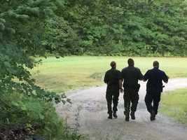 State police returned to the property on Friday to continue their search.
