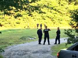 Police were using ground-penetrating radar and cadaver dogs to search the property Friday.