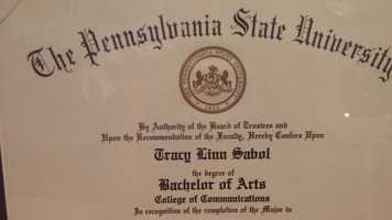 Tracy graduated from Penn State University.