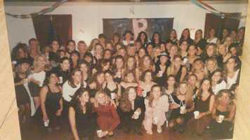 Tracy was in a sorority: Pi Beta Phi also known as Pi Phi!
