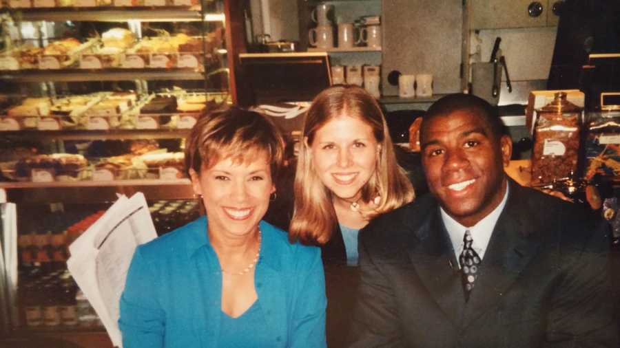 Before Tracy was a news anchor she worked behind the scenes as producer in Atlanta where she had the chance to meet and work with a number celebrities, including Magic Johnson.