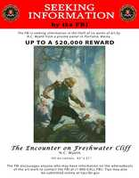 """The Encounter on Freshwater Cliff"" is one of the paintings still missing."