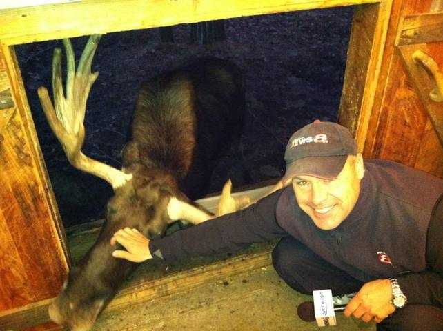 Norm says one of the coolest things he has ever done on live television was getting up close to 'George the Moose' at the Maine Wildlife Park.
