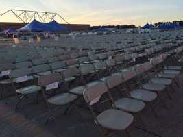 It won't be long before these seats are filled with enthusiastic spectators at the Great State of Maine Air Show at Brunswick Landing.